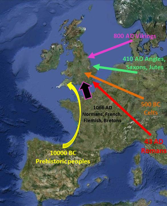 Map Of Uk 500 Ad.The Human Colonisation Of England English Origenes Use Family